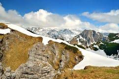 Paesaggio della montagna in Austria Fotografia Stock