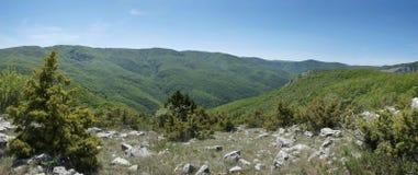 Paesaggio della montagna in canyon della Crimea immagine stock