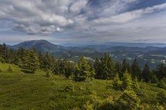 Paesaggio della montagna in Carinzia Fotografia Stock