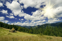 Paesaggio della montagna carpatica Immagine Stock Libera da Diritti
