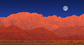 Paesaggio della montagna, deserto di Namib immagine stock libera da diritti