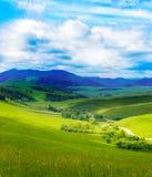Paesaggio della montagna con la strada Immagine Stock