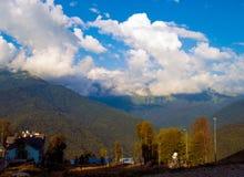 Paesaggio della montagna con lo stabilimento fotografia stock
