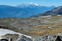 Paesaggio della montagna con Mont Blanc, Francia Fotografie Stock