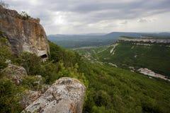 Paesaggio della montagna in Crimea Immagine Stock