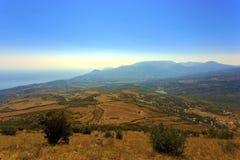 Paesaggio della montagna in Crimea Fotografie Stock Libere da Diritti