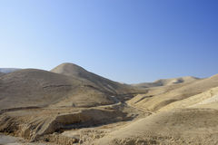 Paesaggio della montagna del deserto della Giudea, Israele immagine stock libera da diritti