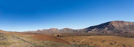 Paesaggio della montagna del deserto - Tenerife, Spagna immagine stock