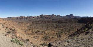 Paesaggio della montagna del deserto - Tenerife, Spagna fotografia stock libera da diritti