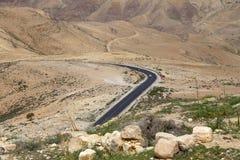 Paesaggio della montagna del deserto (vista aerea), Giordania, Medio Oriente Immagini Stock