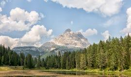 Paesaggio della montagna del dolomiti Fotografie Stock