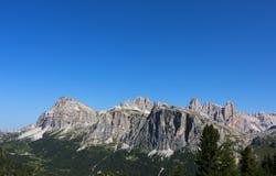 Paesaggio della montagna del dolomiti Immagini Stock Libere da Diritti