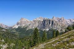 Paesaggio della montagna del dolomiti Immagine Stock