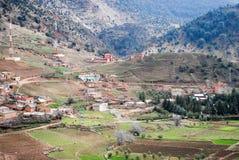 Paesaggio della montagna del Marocco Fotografia Stock