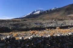 Paesaggio della montagna dell'Himalaya nel ladak, leh India Fotografia Stock Libera da Diritti
