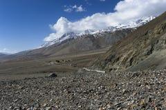 Paesaggio della montagna dell'Himalaya nel ladak, leh India Fotografie Stock