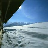 Paesaggio della montagna dell'inverno Immagini Stock Libere da Diritti