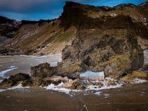 Paesaggio della montagna dell'Islanda Immagini Stock Libere da Diritti