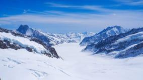 Paesaggio della montagna della neve di Jungfrau Fotografie Stock Libere da Diritti