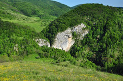 Paesaggio della montagna della sorgente Immagini Stock Libere da Diritti