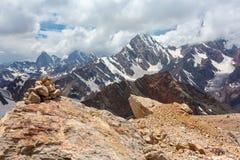Paesaggio della montagna della valle del fan nel Tagikistan Fotografia Stock