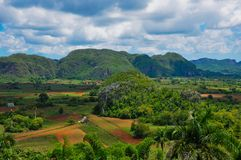 Paesaggio della montagna della valle del tabacco Fotografia Stock