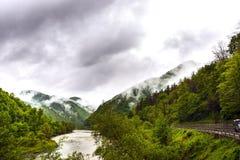 Paesaggio della montagna della valle di Olt Fotografia Stock Libera da Diritti