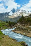 Paesaggio della montagna delle alpi di estate (Austria) Fotografia Stock