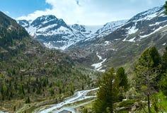 Paesaggio della montagna delle alpi di estate (Austria) Immagini Stock