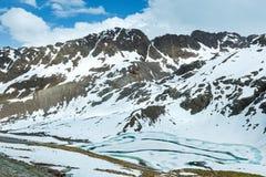 Paesaggio della montagna delle alpi di estate (Austria) Fotografia Stock Libera da Diritti