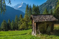 Paesaggio della montagna delle alpi francesi Immagini Stock Libere da Diritti