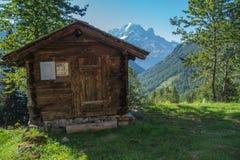 Paesaggio della montagna delle alpi francesi Fotografia Stock Libera da Diritti