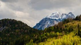 Paesaggio della montagna delle alpi in Fussen, Baviera, Germania Immagini Stock Libere da Diritti