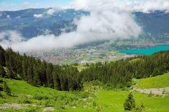 Paesaggio della montagna delle alpi svizzere Immagini Stock Libere da Diritti