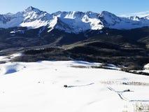 Paesaggio della montagna dello Snowy Colorado. Immagine Stock