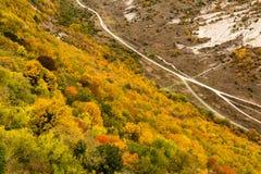Paesaggio della montagna di Autumn Crimean immagini stock libere da diritti