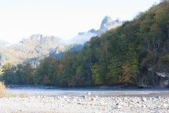 Paesaggio della montagna di autunno Immagini Stock Libere da Diritti