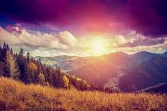 Paesaggio della montagna di autunno Immagine Stock