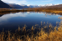 Paesaggio della montagna di autunno Fotografia Stock