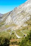 Paesaggio della montagna di autunno in alpi Fotografia Stock