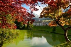 Paesaggio della montagna di autunno in alpi Immagine Stock Libera da Diritti