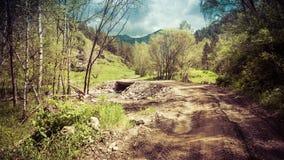 Paesaggio della montagna di bellezza Fotografie Stock Libere da Diritti
