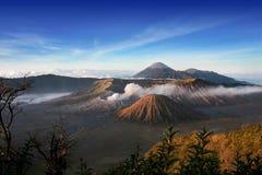Paesaggio della montagna di Bromo Fotografia Stock