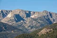 Paesaggio della montagna di Colorado in autunno Immagine Stock