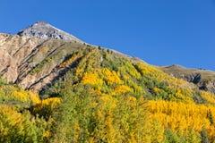 Paesaggio della montagna di Colorado in autunno Immagini Stock