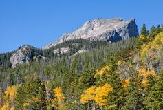 Paesaggio della montagna di Colorado nella caduta Fotografia Stock Libera da Diritti