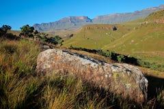 Paesaggio della montagna di Drakensberg - Sudafrica Fotografia Stock