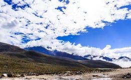 paesaggio della montagna di elevata altitudine Immagine Stock