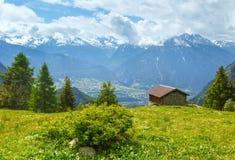 Paesaggio della montagna di estate (alpi, Svizzera) Fotografie Stock Libere da Diritti