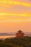 Paesaggio della montagna di Hangzhou della sera fotografie stock libere da diritti